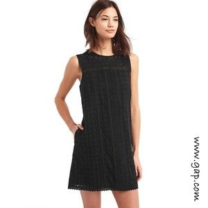 Gap Sleeveless Lace Shift Dress True Black Size XL